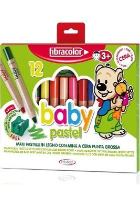 Fibracolor Baby Pastel 1+ Yaş Bebekler İçin Kalın Pastel Kalem 12 Renk