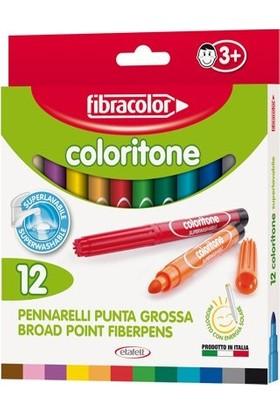 Fibracolor Coloritone Kalın Uçlu Keçeli Kalem 12 Renk