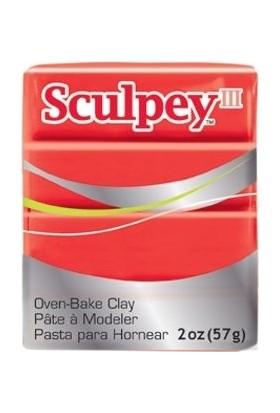 Sculpey III Polimer Kil 583 Red Hot Red (Sıcak Kırmızı)