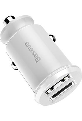 Baseus CCALL-ML02 Mini Dual USB 3.1A Max Çıkışlı Hızlı Araç Şarj Başlı