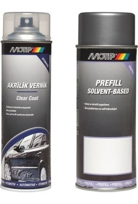 Motip Nissan Kod:Klo Gümüş Renk Sprey Rötuş Boya Seti