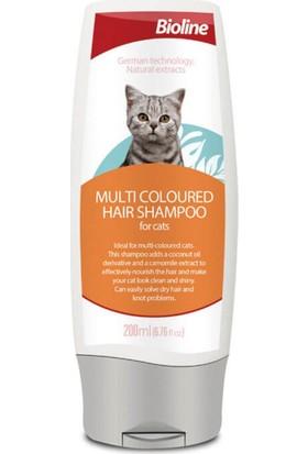 Bioline Çok Renkli Tüylü Kediler Için Şampuan 200 ml