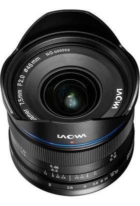 Laowa Venus 7.5mm F/2 MFT Lens (Standart Black)