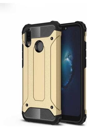 Ehr. Huawei P Smart Z Kılıf Çift Katmanlı Ultra Kılıf + 5D Full Nano Ekran Koruyucu Gold