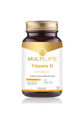 HuncaLife Multilife D Vitamin 30 Kapsül