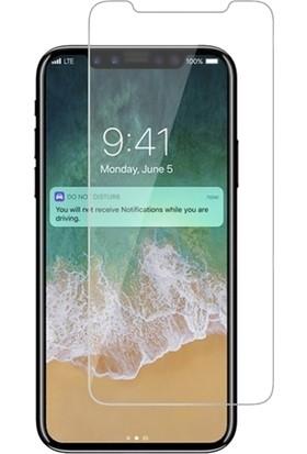 DVR Apple Roar iPhone XS Kılıf Ultra Thin Ace Sert Plastik Kapak + Nano Cam Ekran Koruyucu Gold
