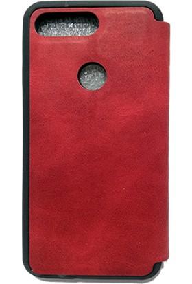 Mopal General Mobile GM9 Pro Magnum Pencereli Kılıf Kırmızı