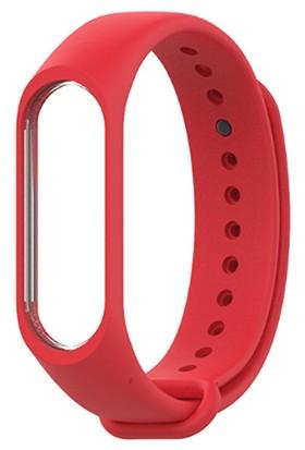 PaLeon Xiaomi Mi Band 3 Kordon Kayışı - Kırmızı