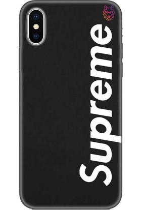 Wolf Dizayn Apple iPhone X/Xs Siyah Silikon Kılıf -Supreme 5