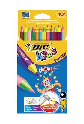 Bic Kids Evolution Circus Kuru Boya Kalemi 12 Renk
