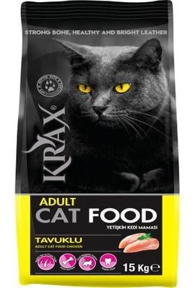 Krax Tavuklu Yetişkin Kedi Maması 15 kg