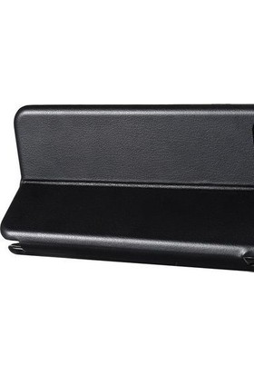 Prolysus Samsung Galaxy A10 Kılıf Kapaklı Cüzdan Flip Cover Wallet Kılıf Gri
