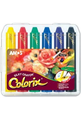 Amos Colorix Silky Crayon Üçü Bir Arada Boya 6 Renk