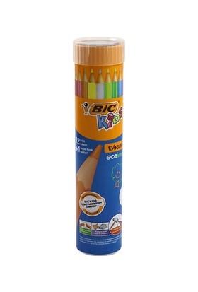 Bic Kids Evolutions Üçgen Gövde Jumbo Kuru Boya Kalemi 12 Renk
