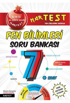 Nartest Yayınları 7 Sınıf Süper Zeka Fen Bilimleri Soru Bankası