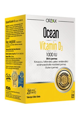Ocean Vitamin D3 1000 IU 20ml Sprey