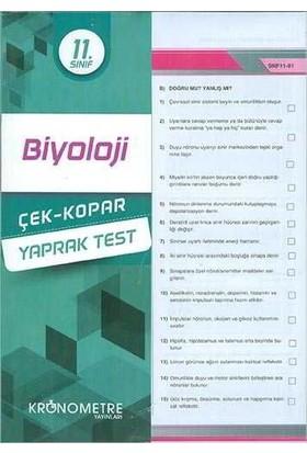 Kronometre 11. Sınıf Biyoloji Yaprak Test