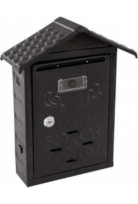 Adilon Çatılı Posta Kutusu Siyah
