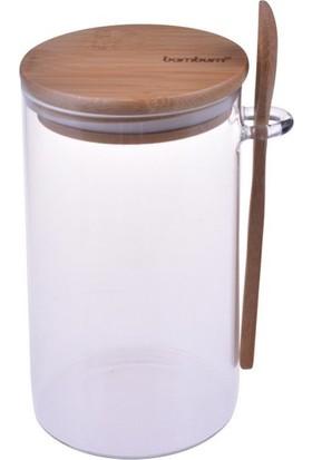 Bambum Lolla Kaşıklı Cam Saklama Kabı 12 cm