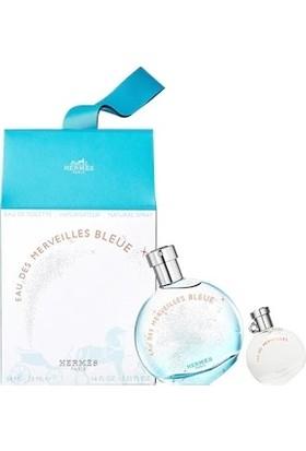Hermes Eau Des Merveilles Bleue Edt 50 ml Kadın Parfüm Seti