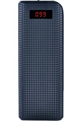 Remax Proda 20000 Mah Taşınabilir Şarj Cihazı (Aleti) Powerbank Çift USB Çıkışlı LCD Ekran Siyah