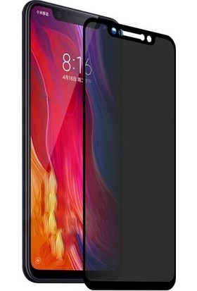 Ehr. Xiaomi Mi 8 SE Ekran Koruyucu Cam Hayalet Cam Privacy Cam Siyah