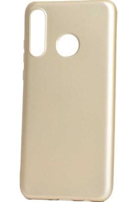 Ehr. Huawei Honor 20 Lite Kılıf Priming Mat TPU Silikon Arka Kapak Kılıf Gold
