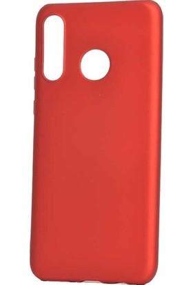 Ehr. Huawei Honor 20 Lite Kılıf Priming Mat TPU Silikon Arka Kapak Kılıf Kırmızı