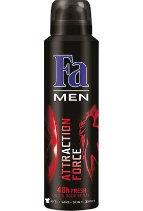 Fa 150 ml Attaction Force Erkek Deodorant 3'lü Set