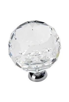 Arvax Kristal Düğme Kulp Dolap Kulpu Çekmece Kulbu