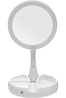 Platoon Makyaj Aynası Katlanabilir Pilli USB Girişli Işıklı Platoon Makyaj Aynası