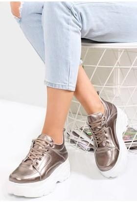 Tarçın Deri Bronz Günlük Kadın Spor Ayakkabı Trc50-Bf
