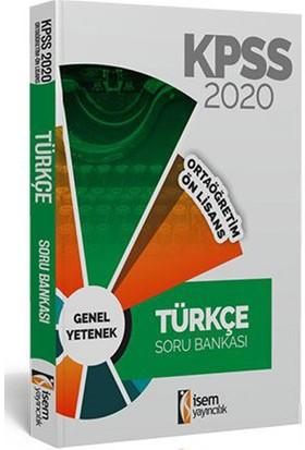 İsem 2020 KPSS Ortaöğretim Ön Lisans Türkçe Tamamı Çözümlü Soru Bankası İsem Yayıncılık