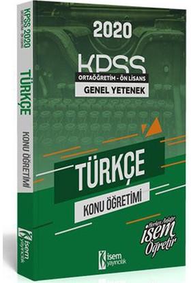 İsem 2020 KPSS Ortaöğretim Ön Lisans Türkçe Konu Öğretimi İsem Yayıncılık