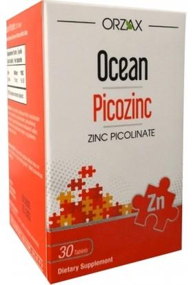 Orzax Ocean Picozinc Takviye Edici Gıda 30 Kapsül