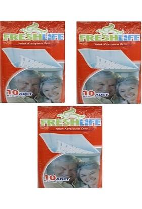 Freshlife 60 x 90 Yatak Koruyucu Örtü 10 Adet 3'lü Paket