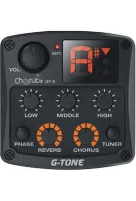 Cherub GT-5 Akustik Gitar Preamfi ve Tuner + Eşik Altı 3 Band EQ