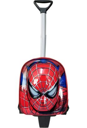 Redpoloshop Spiderman Anaokulu Çekçekli Sırt Çantası Mini 3 - 6 Yaş 5d Kabartmalı
