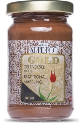 Artdeco Gold Geleneksel Ebru Boyası Koyu Kahve