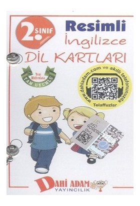 Dahi Adam 2. Sınıf Resimli İngilizce Dil Kartları