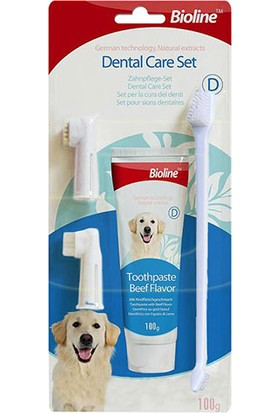 Bioline Köpekler İçin Ağız Temizleme Jeli Ve Diş Fırçası Seti