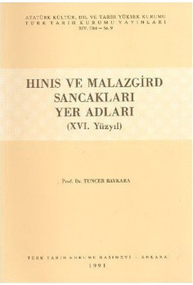 Hınıs Ve Malazgird Sancakları Yer Adları-Tuncer Baykara
