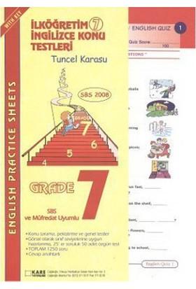 Sbs 2008 İlköğretim 6 İngilizce Konu Testleri-Tuncel Karasu