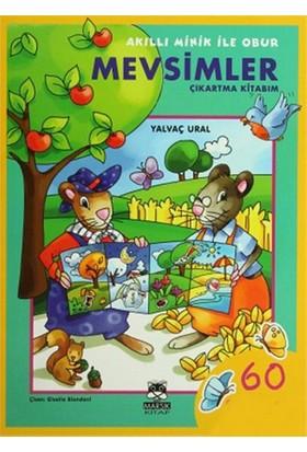 Akıllı Minik ile Obur - Mevsimler Çıkartma Kitabım - Yalvaç Ural