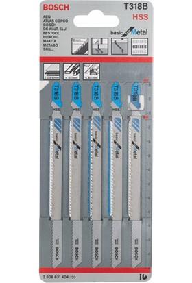 Bosch - Ekonomik Seri Metal İçin T 318 B Dekupaj Testeresi Bıçağı - 5'Li Paket