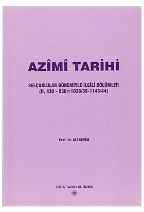Azimi Tarihi-Ali Sevim