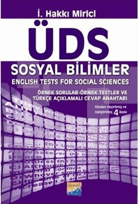 Üds Sosyal Bilimler - English Tests For Social Sciences-İ. Hakkı Mirici