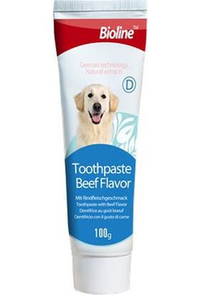 Bioline Köpekler İçin Biftek Aromalı Diş Macunu 100 Gr
