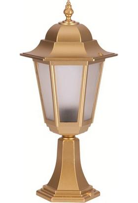 Şanlı Aliminyum Altıgen Altın Yaldız Boyalı Fener Set Üstü