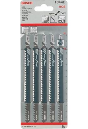 Bosch - Hızlı Kesim Serisi Ahşap İçin T 344 D Dekupaj Testeresi Bıçağı - 5'Li Paket